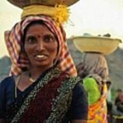 Women Carrying Goods On Their Heads H A Nv Art Print