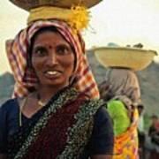 Women Carrying Goods On Their Heads H B Art Print