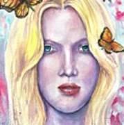 Women Face beauty Art Print