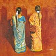 Women In Sarees Art Print