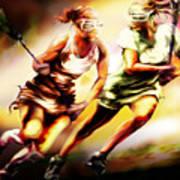 Women In Sports - Lacrosse Art Print