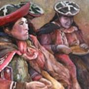 Women Of The Andes Art Print