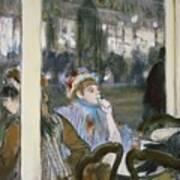 Women On A Cafe Terrace Art Print