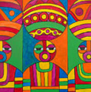 Women With Calabashes Art Print