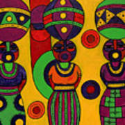 Women With Calabashes II Art Print