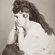 Womens Hairstyle Art Print