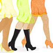 Womens Leg Dots Art Print