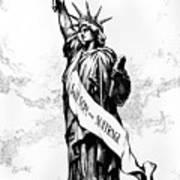 Womens Rights Cartoon, 1915 Art Print