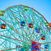 Wonder Wheel Amusement Park 1 Art Print