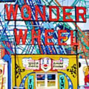 Wonder Wheel Amusement Park 10 Art Print