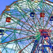 Wonder Wheel Amusement Park 3 Art Print