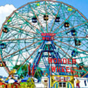 Wonder Wheel Amusement Park 6 Art Print