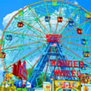 Wonder Wheel Amusement Park 7 Art Print