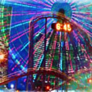 Wonder Wheel At The Coney Island Amusement Park Art Print