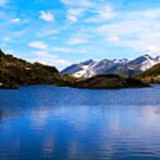 Wonderful Lake San Bernardino In Switzerland. Art Print