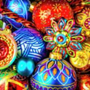 Wonderfully Beautiful Christmas Ornaments Art Print