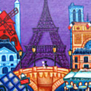 Wonders Of Paris Art Print