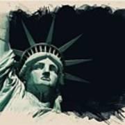 Wonders Of The Worlds - Lady Liberty Of New York 2 Art Print
