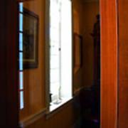 Wood And Glass Door Art Print