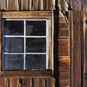 Wood And Window Art Print