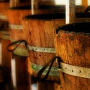 Wood Barrels Art Print