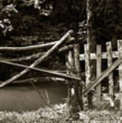 Wood Fence Art Print