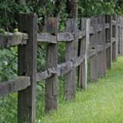 Wood Fence Art Print