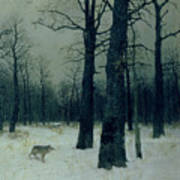 Wood In Winter Art Print by Isaak Ilyic Levitan
