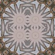 Wooden Art Deco Starbursts Art Print