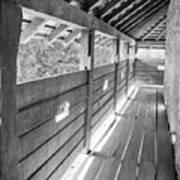 Wooden Balcony Print by Gabriela Insuratelu