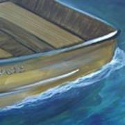 Wooden Boat -rear Art Print