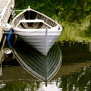 Wooden Boat Art Print