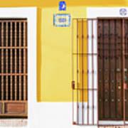 Wooden Doors In Old San Juan, Puerto Rico Art Print