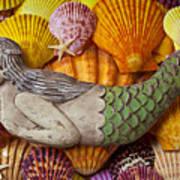 Wooden Mermaid Art Print by Garry Gay