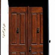 Wooden Portal Art Print