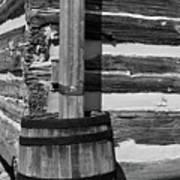 Wooden Water Barrel Art Print
