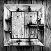 Wooden Window II Art Print