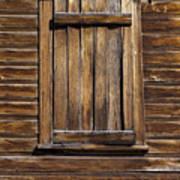 Wooden Window Art Print