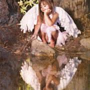 Woodland Fairy Art Print by Cindy Singleton