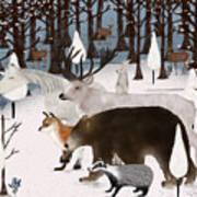 Woodland Nature Art Print