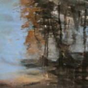 Woodlands At The Lake Art Print