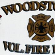 Woodstock Fire Dept Art Print