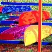 Woodsy Boat Rack Art Print