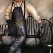 Woodworker - The Chair Maker  Art Print
