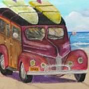 Woody On Beach Art Print