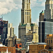 Woolworth Building From Hudson River Art Print