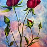Woop Woop Rose Art Print