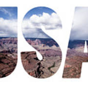 Word Usa Grand Canyon National Park, Arizona  Art Print