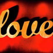 Words Of Love And Retro Romance Art Print
