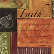Words To Live By Faith Art Print